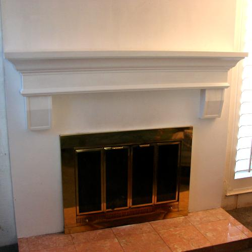 Mantel Shelf With Corbels